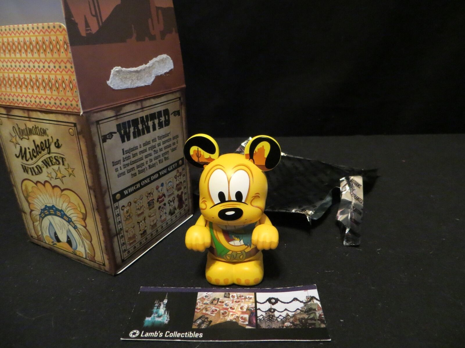"Primary image for Disney Parks Authentic Pluto 3"" Vinylmation Mickey's Wild West series"