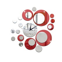 DIY 3D Removable Acrylic Wall Clocks Wall Sticker Mirror Decal Art Home ... - $10.20