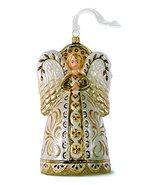 2016 Hallmark Heritage Collection Blown Glass Ornament - Decorative Angel Blown  - $17.82