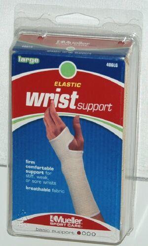 Mueller 406LG Elastic Wrist Support Size Large Color White