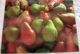 """Glass Cutting Board, Extra Long, Rectangle, Pears, 11.8"""" X 15.7"""", Quality Home - $11.87"""