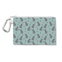 Leopard Cat Love Canvas Zip Pouch - $15.99+
