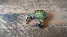 "Vintage Sterling Silver & Abalone New Zealand Kiwi Bird Brooch 1.25"" - $69.29"