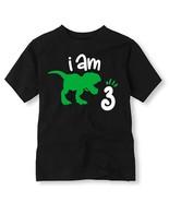 Dinosaur Birthday Shirt, Personalized Dinosaur Birthday Shirt with Age - $11.99