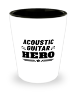 Acoustic Guitar Hero Player Shot Glass - 1.5 oz Ceramic Cup For Music Fans  - $12.95