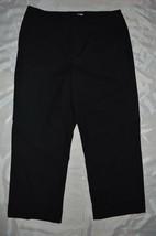Womens Liz Claiborne Michaela Dress Capri Pants ~ Sz 8 ~ Black ~ Cuff - $14.84