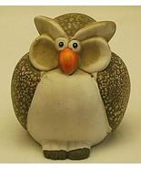 Whimsical Folk Art Speckled Owl Country Farm Animal Figurine Shelf Decor - $24.74