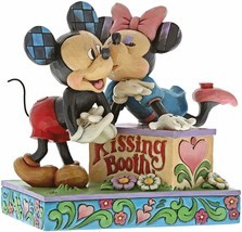 "6"" Kissing Booth Mickey & Minnie Mouse Figurine - Jim Shore Disney Traditions"