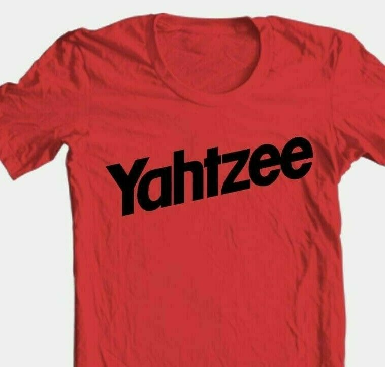 Yahtzee T-shirt retro vintage 1980s classic board game 100% cotton red tee