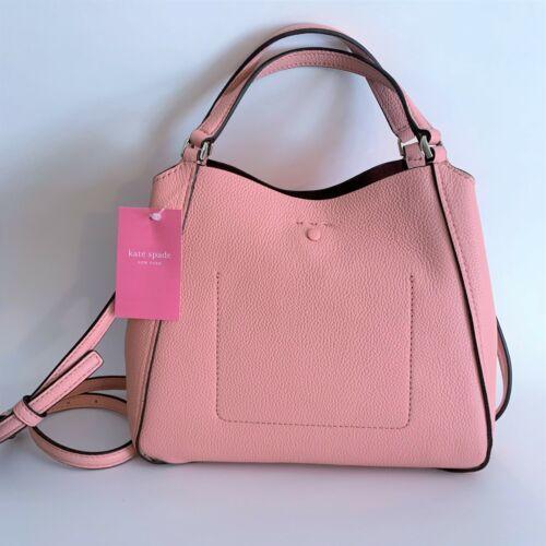 Kate Spade Talia Small Triple Compartment Leather Crossbody ~ Peachy Rose Bag image 5