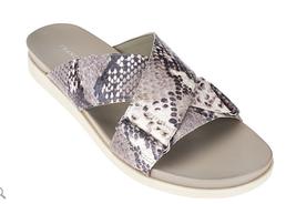 Franco Sarto Criss-cross Slide Sandals - Lure Smoke Python 7M - €21,85 EUR