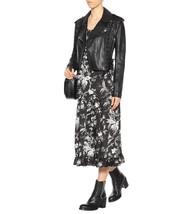 Women Designer Charcoal Black Lambskin Leather Blazer Coat For Women - $170.00