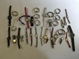 Vintage Wrist Watch Lot Mens Womens Various Makes - $30.00