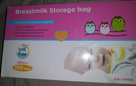 Bebe D Amour 6.8 OZ Breast Milk Storage 100 Bags  BPA Free and Ready to ... - $19.30