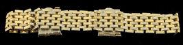 "Vintage Gold Tone Cool 1/2"" Wide Dbl Chain Clasp Buckle Adjustable Bracelet 60's image 3"