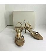 Bandolino Womens Sz 7 M Natural LL 3 in  Heels Sandals JIONZ03 - $24.30