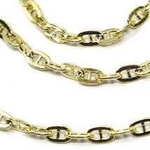 9K YELLOW GOLD CHAIN MARINER FLAT OVAL LINKS 2.7 MM THICKNESS, 18 INCHES, 45 CM image 3