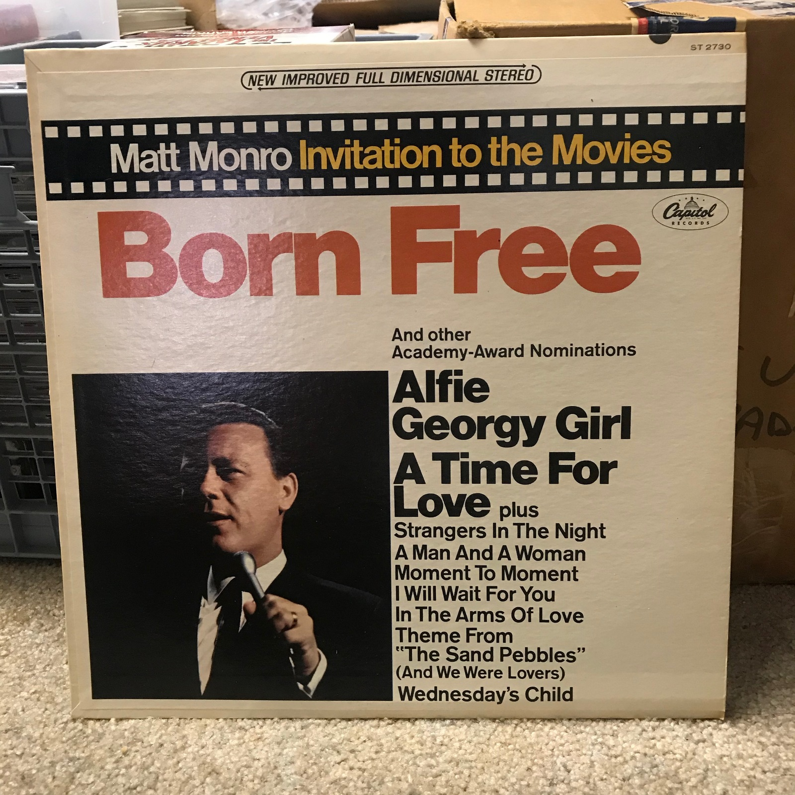 Primary image for Matt Monro- Born Free / Capitol ST 2730 Stereo LP / 1967 VG++