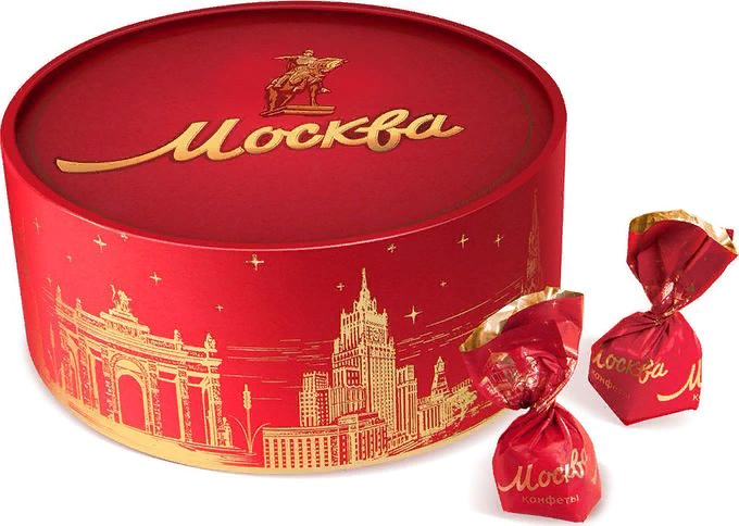 """Candy gift """"MOSCOW"""" Red October Russia 200g/7.05oz - $19.90"""