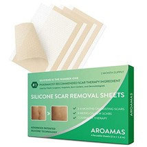 Aroamas, Silicone Scar Removal Sheets - for Keloid, C-Section, Hypertrophic, Sur