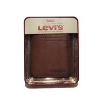 Levi's® 31LV110016 men's trifold leather wallet brown one size - $45.00