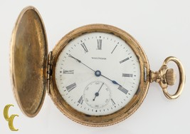 Gold Filled Waltham Antique Full Hunter Pocket Watch Gr Seaside 6S 7 Jewel - €137,48 EUR