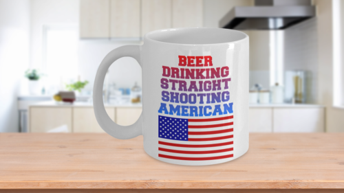 Proud To Be An American Coffee Mug - Gifts For Hubby Wifey Wife Husband Mom Dad