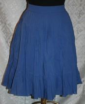 Gap TALLA S Mujer Bonito Falda Forro Muy Suave Tela Azul Línea-a Completo - $17.88