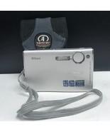 Nikon coolpix s5 digital camera vintage compact cool pix 6.0 mp silver J... - $63.36