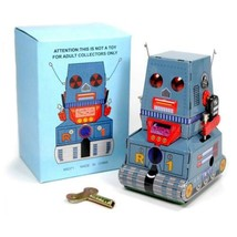 TIN TOY ROBOT R1 TANK Wind Up Retro Vintage Style NIB NEW Zoomer Retro S... - $12.95
