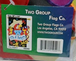 Two Group Flags Co 15040 Its A Party Indoor Outdoor Polyester Flag image 3