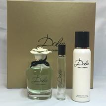 Dolce by Dolce & Gabbana 3PCs Women Set, 2.5 + 0.25 + 3.3oz perfumed body lotion image 2
