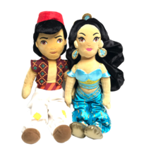 Disney Aladdin Jasmine Plush Dolls Set Prince Ali Princess Stuffed Toys ... - $23.26