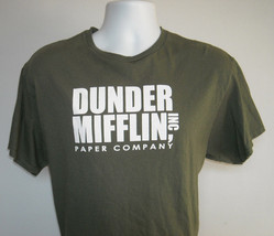 Mens Dunder Mifflin Inc Paper Company The Office T Shirt Large green - $21.73