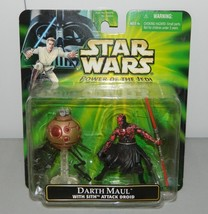 Star Wars Power of the Jedi Darth Maul with Sith Attack Droid Action Fig... - $24.74