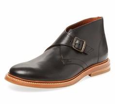 New - $358 FRYE William Monk Strap Black Leather Chukka Boots Size 9 - $2.714,52 MXN