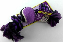 """Multipet Nuts for Knots 2 Knot Rope Tennis Ball Dog Toy 10""""  - £7.00 GBP"""