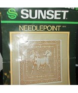 Sunset needlepoint kit Lace Unicorn 6513 Dawn Marshall Cooley opened sta... - $11.87