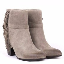 ASH SUEDE FRINGE QUICK STONE ANKLE BOOTIES WESTERN DISTRESSED BOOTS 39M 8 - $94.83