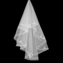 Elegant Single-layer Beautiful Bridal Elbow Wedding Veil, Pure White/1.5M Long