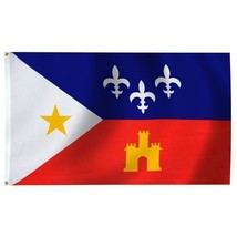 "ACADIANA 3X5' FLAG NEW 3'X5' 3 X 5 FEET 36X60"" BIG - $9.85"