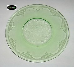 Cathedral Green Plate 8 in. Luncheon Hocking - $5.95