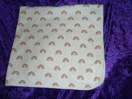 Gymboree Baby Blanket Rainbow Print Cotton Receiving Swaddle Girl Gray - $29.69