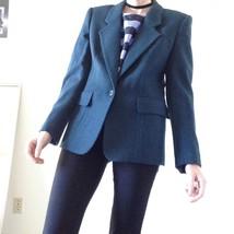 Evan-Picone 100% hare wool blazer dark green Si... - $35.00