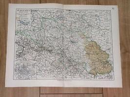 1905 ORIGINAL VINTAGE MAP OF SILESIA SCHLESIEN BRESLAU POLAND GERMANY - $23.76