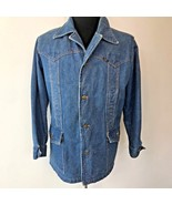 Vintage Lee Storm Rider Western Denim Jean Trucker Jacket size L? made U... - $49.95
