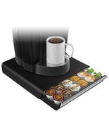 Coffee Pod Drawer, Fits 26 Pods, 14 3/4 X 13 1/4 X 2 3/4, Black - $56.85