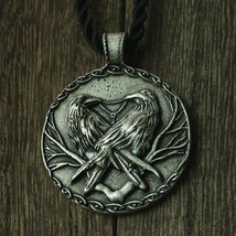 Ravens odin 's Symbol of Norse Viking Warriors silver pendant necklace Punk - $17.95