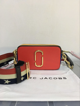 Marc Jacobs Snapshot Small Camera Bag Crossbody Bag Star Strap Red Multi... - $200.00