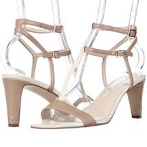 Nine West Dacey T-Strap Dress Sandals, Medium Natural Multi, 6.5 US Used - $23.03